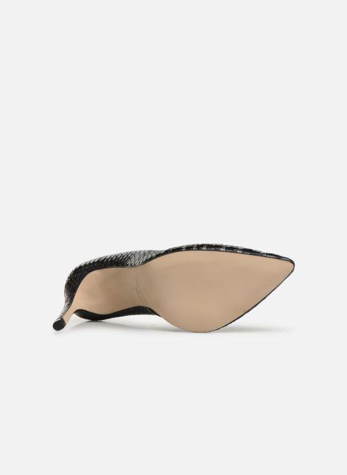Zapatos de tacón Georgia Rose Snakal Negro vista de arriba