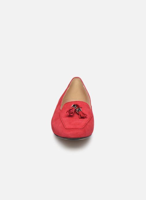 Mocasines Georgia Rose Sopona Rojo vista del modelo