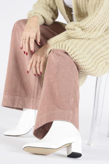 Bottines et boots Georgia Rose Seventian Blanc vue bas / vue portée sac