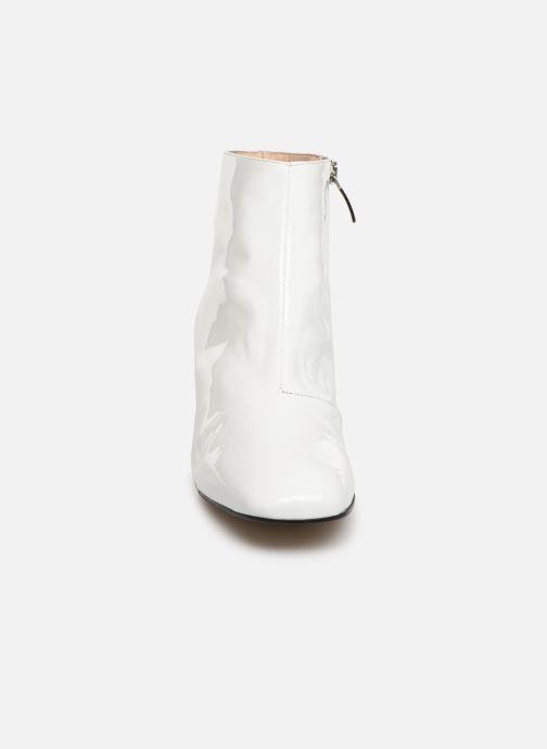Bottines et boots Georgia Rose Seventian Blanc vue portées chaussures