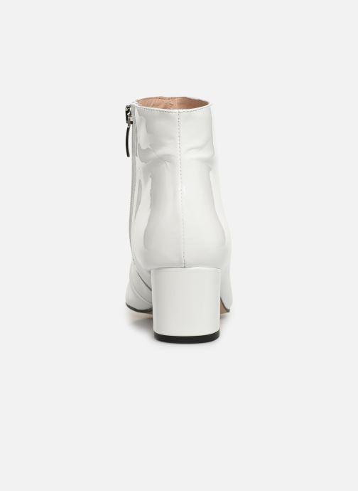 Bottines et boots Georgia Rose Seventian Blanc vue droite