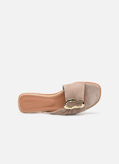Mules & clogs Flattered Misha C Beige view from the left