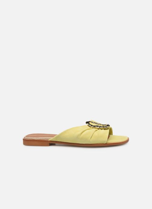 Mules & clogs Flattered Misha C Yellow back view