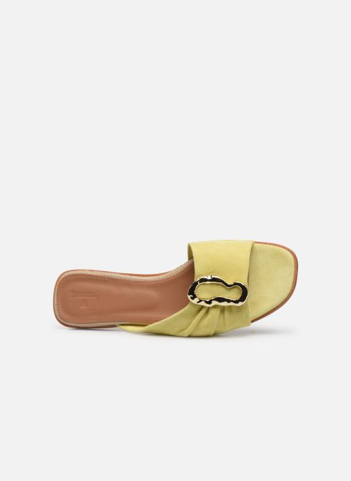 Mules & clogs Flattered Misha C Yellow view from the left