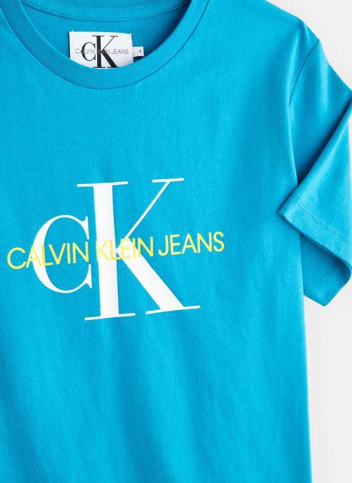 Vêtements Calvin Klein Monogram Oco Tee Bleu vue portées chaussures