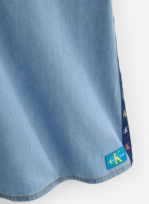 Vêtements Calvin Klein Monogram Dress Mid B Bleu vue portées chaussures