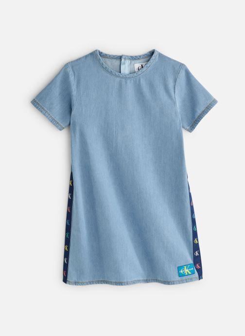 Vêtements Calvin Klein Monogram Dress Mid B Bleu vue détail/paire