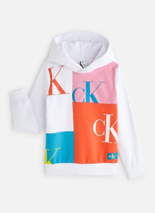 Vêtements Calvin Klein Monogram Patchwork L Blanc vue détail/paire
