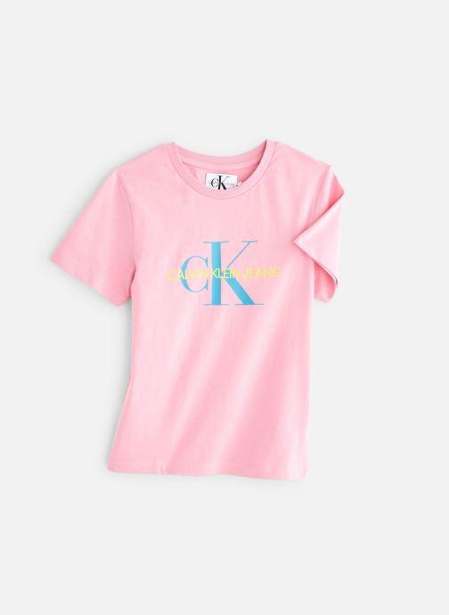 Vêtements Calvin Klein Monogram Oco Regular Rose vue détail/paire