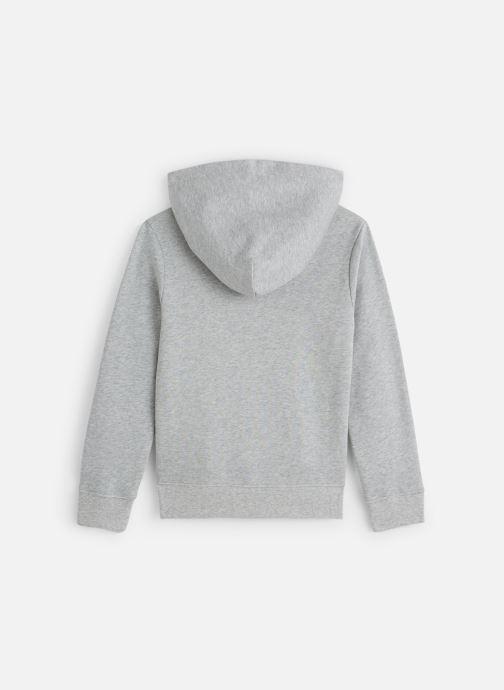 Vêtements Calvin Klein Monogram Terry Hoodi Gris vue bas / vue portée sac