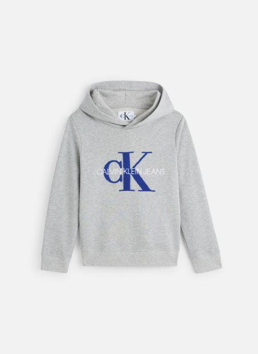 Vêtements Calvin Klein Monogram Terry Hoodi Gris vue détail/paire
