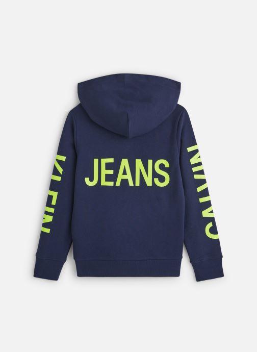 Vêtements Calvin Klein Neon Logo Zip Hoodie Bleu vue bas / vue portée sac
