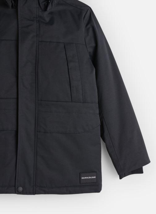 Vêtements Calvin Klein Back To School Jacke Noir vue portées chaussures