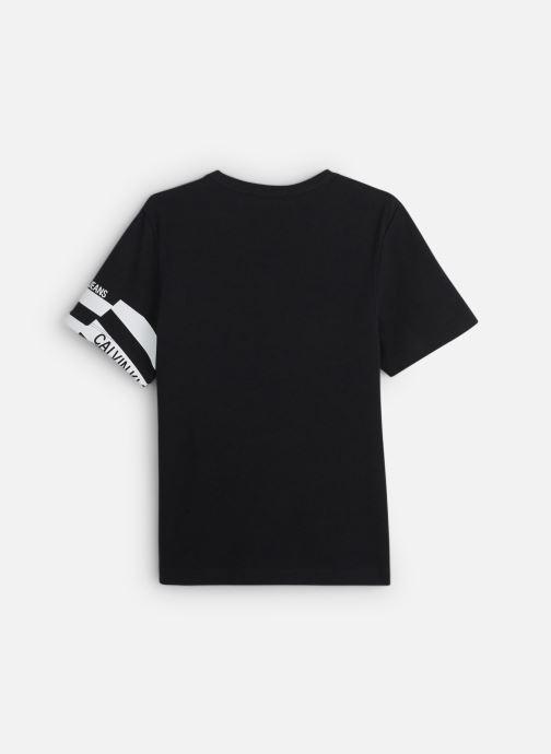 Kleding Calvin Klein Flag Print Oco Tee Zwart onder