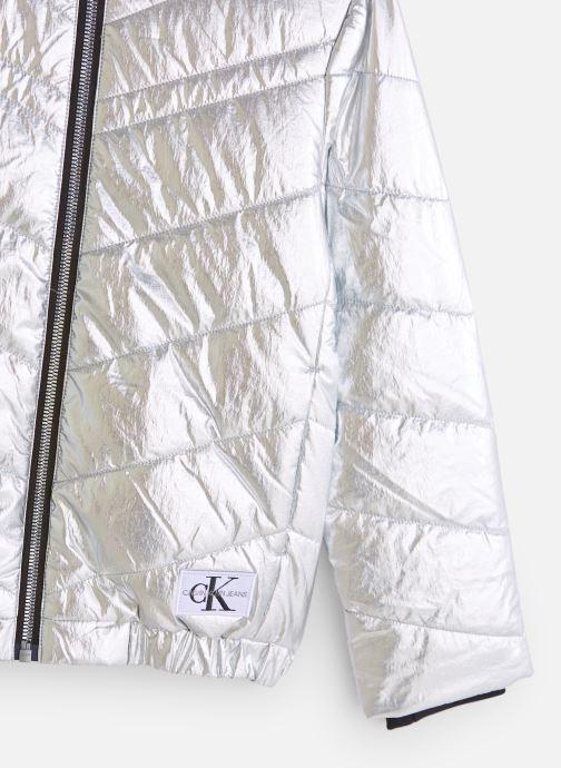 Vêtements Calvin Klein Silver Light Hood Bo Argent vue portées chaussures