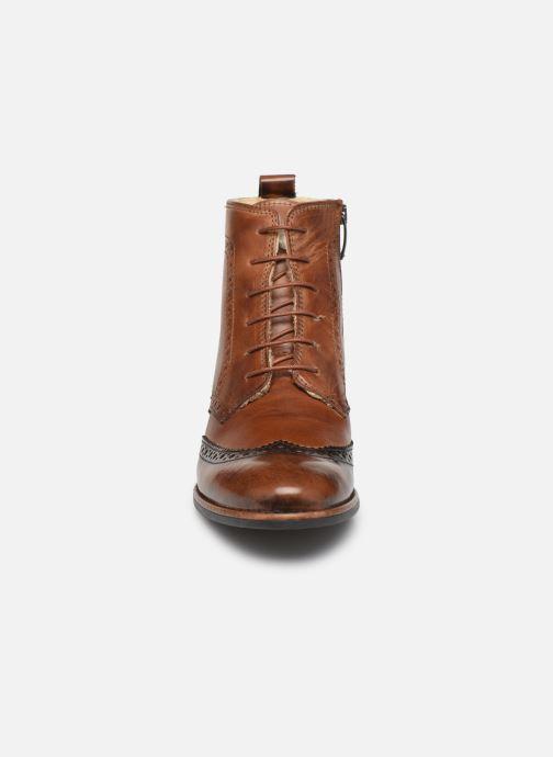 Bottines et boots Georgia Rose Narciso fourrée Marron vue portées chaussures