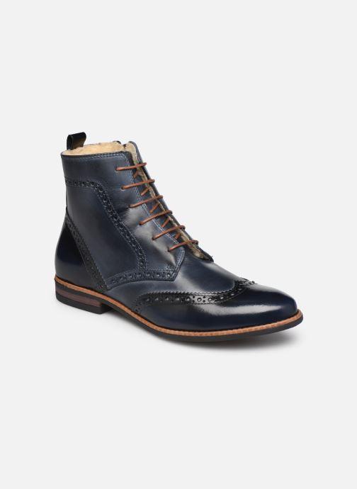 Bottines et boots Georgia Rose Narciso fourrée Bleu vue détail/paire