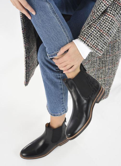 Bottines et boots Georgia Rose Nicla Noir vue bas / vue portée sac