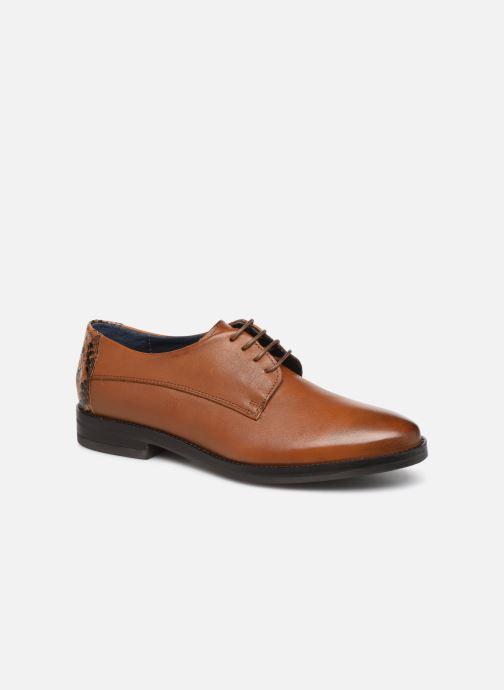 Chaussures à lacets Georgia Rose Nisnake Marron vue détail/paire