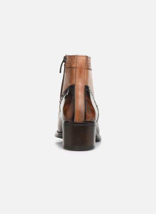 Ankle boots Georgia Rose Norivo Brown view from the right