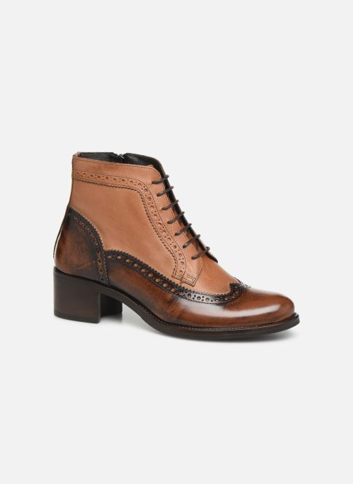 Ankle boots Georgia Rose Norivo Brown detailed view/ Pair view