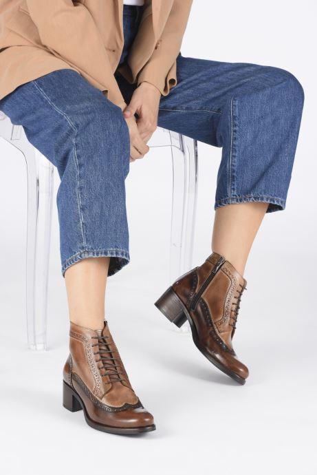 Bottines et boots Georgia Rose Norivo Marron vue bas / vue portée sac