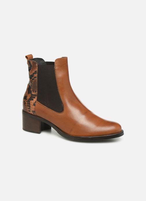 Bottines et boots Georgia Rose Nusnaka Marron vue détail/paire