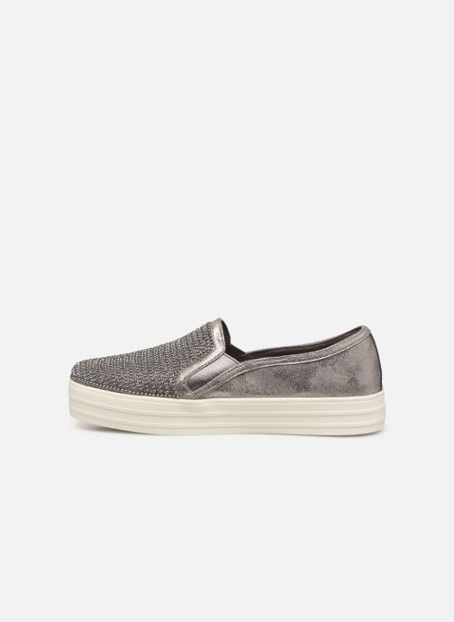 Trainers Skechers Double Up Shiny Dancer W Silver front view