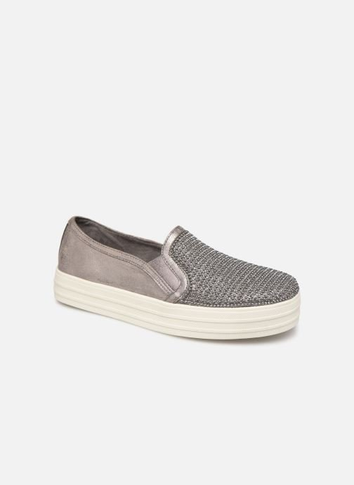 Trainers Skechers Double Up Shiny Dancer W Silver detailed view/ Pair view