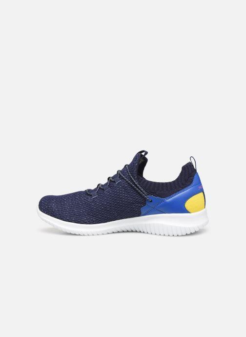 Sneakers Skechers Ultra Flex More Tranquility Azzurro immagine frontale
