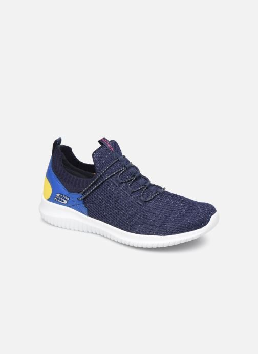 Trainers Skechers Ultra Flex More Tranquility Blue detailed view/ Pair view