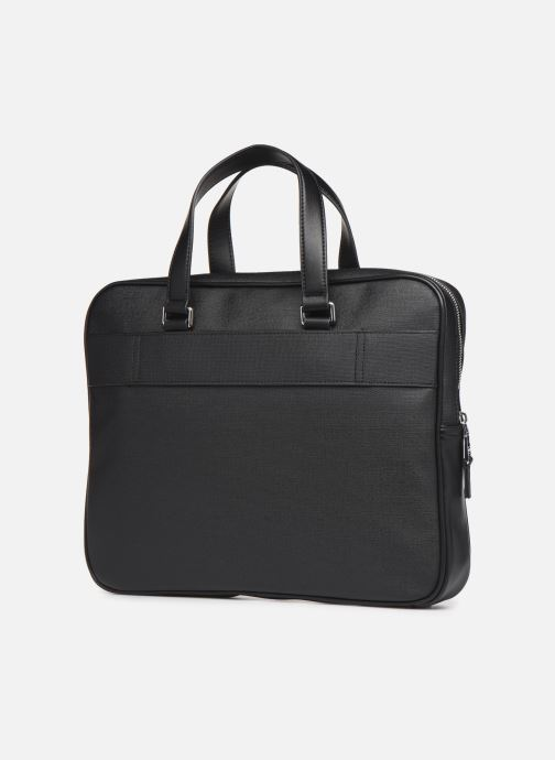 Sacs ordinateur Tommy Hilfiger COATED CANVAS SLIM COMPUTER BAG Noir vue droite