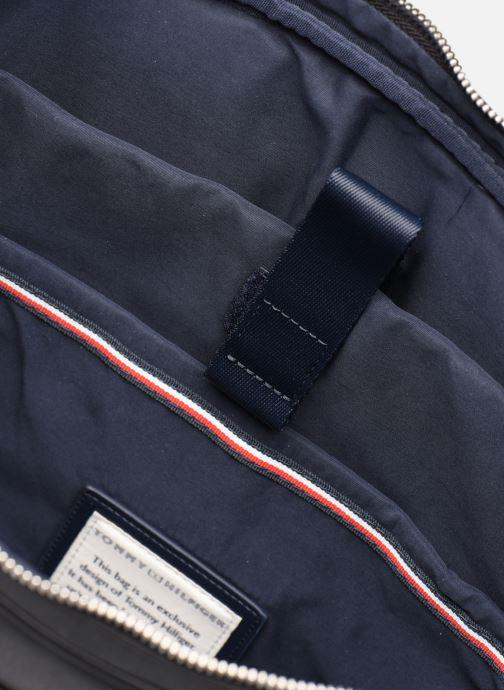Sacs ordinateur Tommy Hilfiger COATED CANVAS SLIM COMPUTER BAG Noir vue derrière