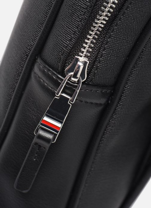 Sacs ordinateur Tommy Hilfiger COATED CANVAS SLIM COMPUTER BAG Noir vue gauche