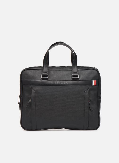 Sacs ordinateur Tommy Hilfiger COATED CANVAS SLIM COMPUTER BAG Noir vue détail/paire