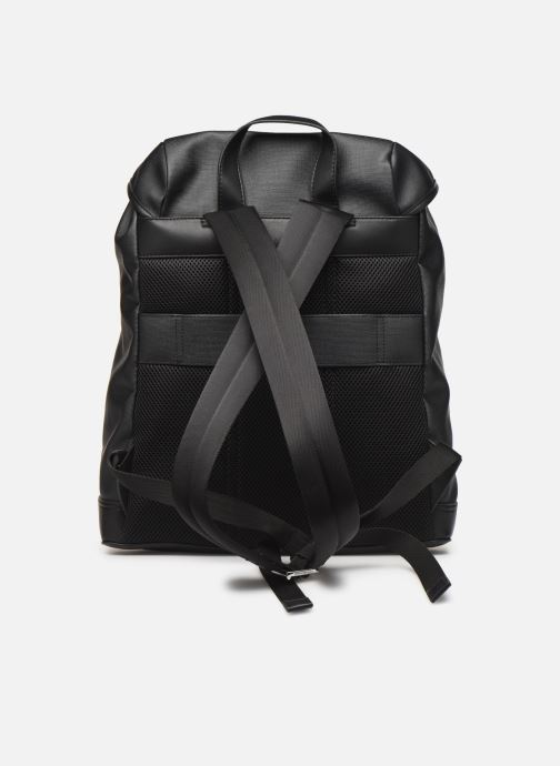 Sacs à dos Tommy Hilfiger COATED CANVAS BACKPACK Noir vue face