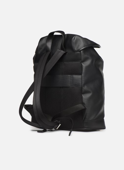 Rucksacks Tommy Hilfiger COATED CANVAS BACKPACK Black view from the right