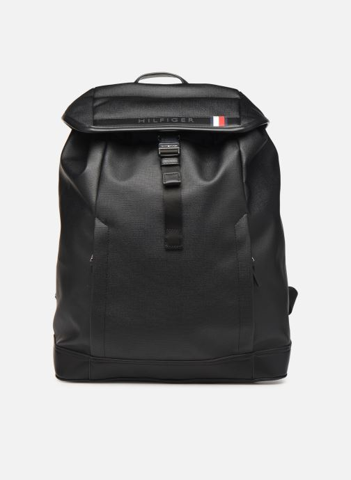 Mochilas Tommy Hilfiger COATED CANVAS BACKPACK Negro vista de detalle / par