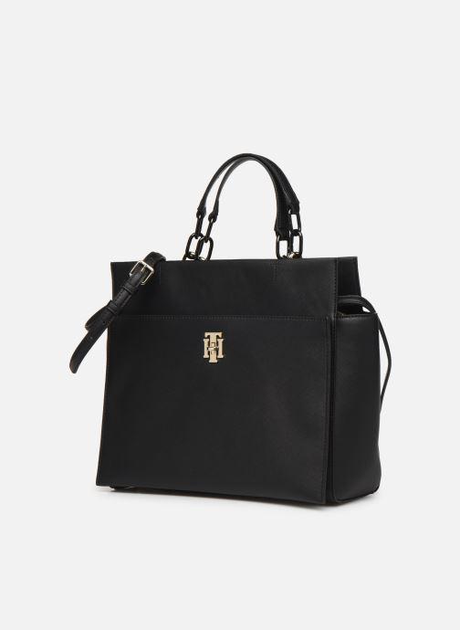 Handtassen Tommy Hilfiger TH SAFFIANO SATCHEL Zwart model