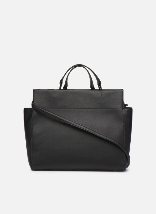 Handbags Tommy Hilfiger TH SAFFIANO SATCHEL Black front view