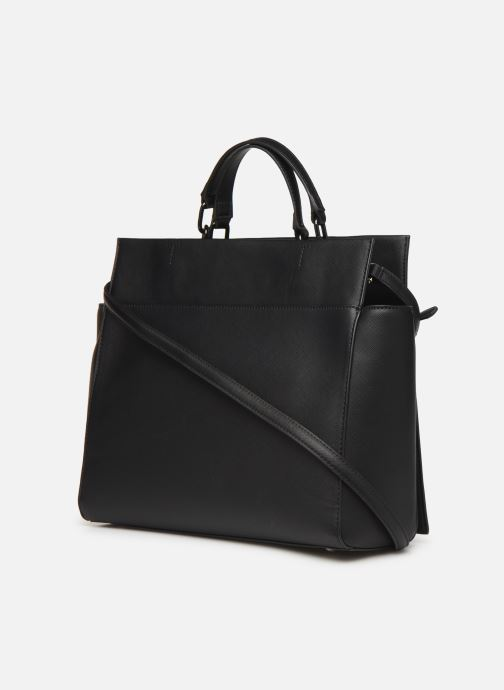 Handbags Tommy Hilfiger TH SAFFIANO SATCHEL Black view from the right