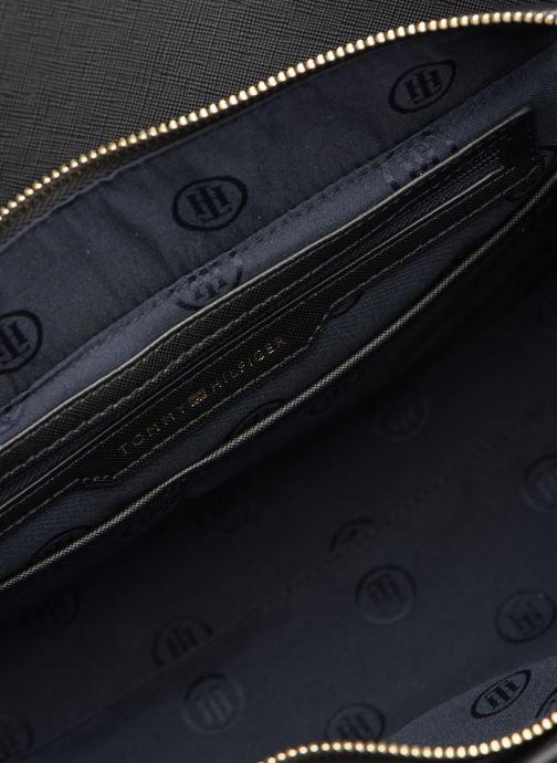 Handbags Tommy Hilfiger TH SAFFIANO SATCHEL Black back view