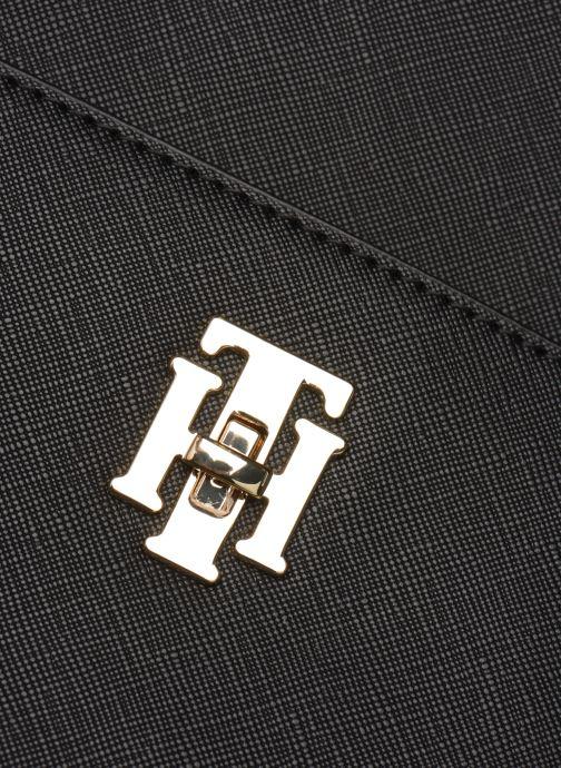 Bolsos de mano Tommy Hilfiger TH SAFFIANO SATCHEL Negro vista lateral izquierda