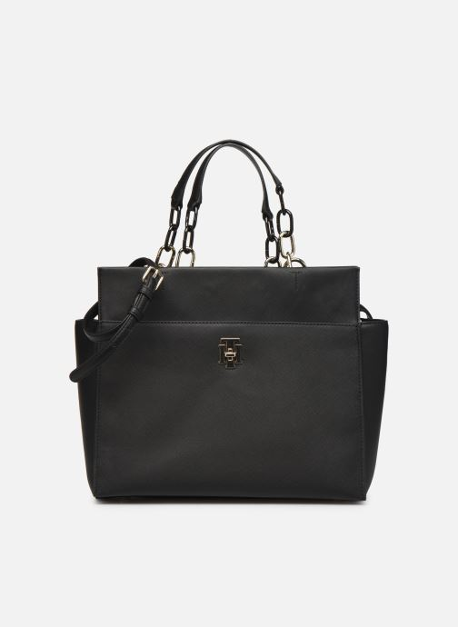 Handbags Tommy Hilfiger TH SAFFIANO SATCHEL Black detailed view/ Pair view