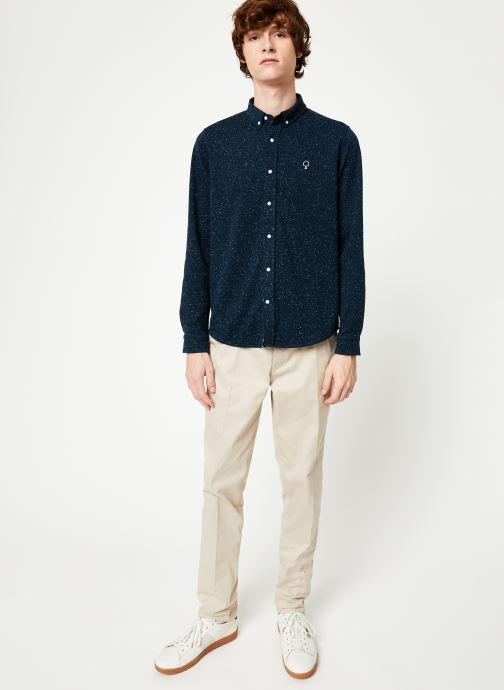 Vêtements Faguo IVOY SHIRT PIQUE COTTON Bleu vue bas / vue portée sac