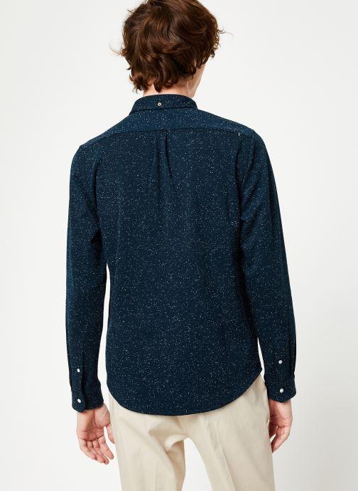 Vêtements Faguo IVOY SHIRT PIQUE COTTON Bleu vue portées chaussures