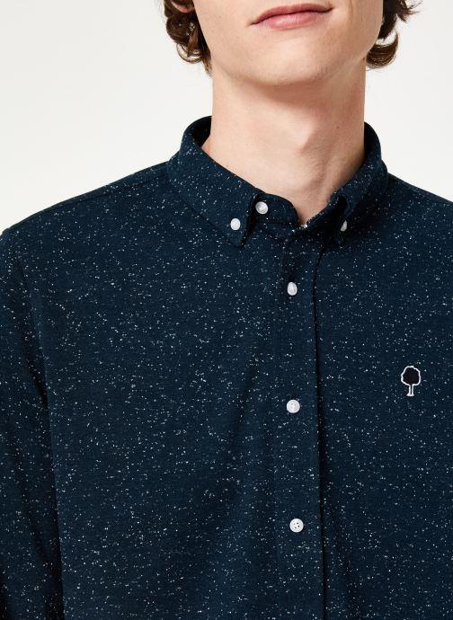 Vêtements Faguo IVOY SHIRT PIQUE COTTON Bleu vue face