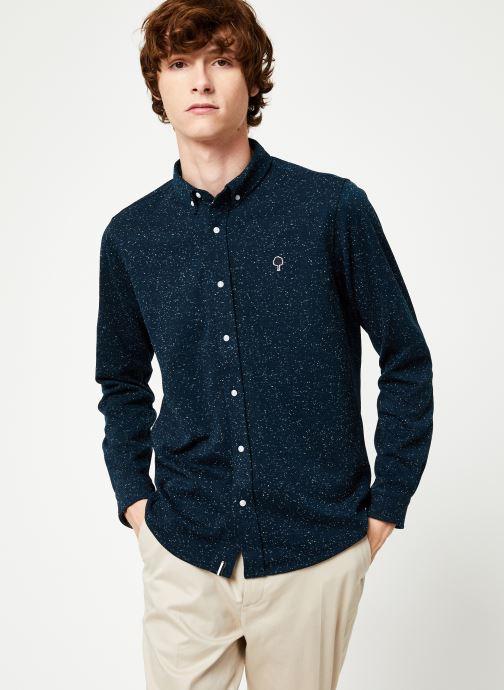 Vêtements Faguo IVOY SHIRT PIQUE COTTON Bleu vue droite