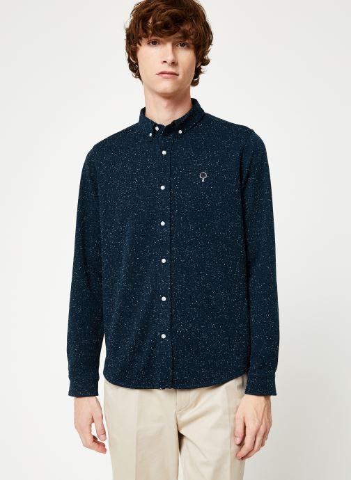 Vêtements Faguo IVOY SHIRT PIQUE COTTON Bleu vue détail/paire