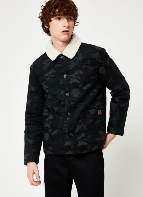 Vêtements Faguo LORGE JACKET WOOL Vert vue droite